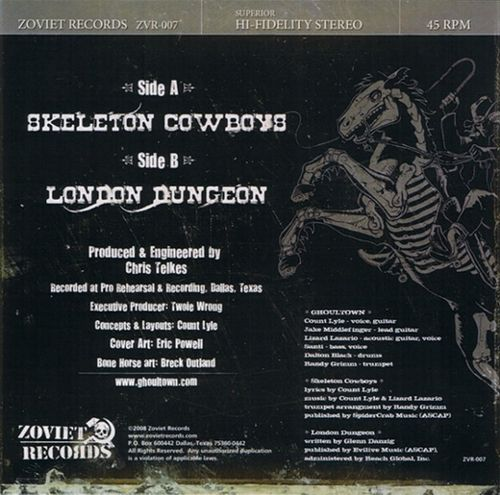 Ghoultown - 00 - Skeleton Cowboys (2008) 7-inch - cover rear