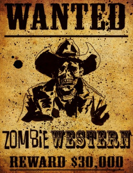 zombie cowboy wanted poster
