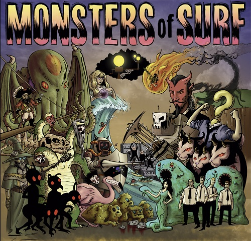 DingDong Records - Monsters Of Surf - MonstersOfSurfFront